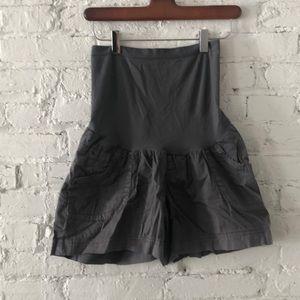 Grey Parachute Maternity shorts